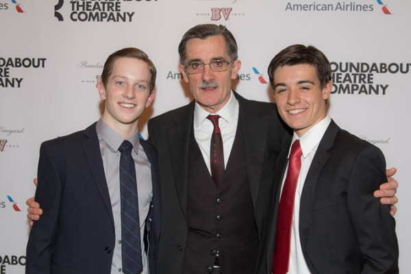 <p>Roger Rees with his stage sons, Spencer Davis Milford and Ryan Quigley.</p><br />(© Seth Walters)