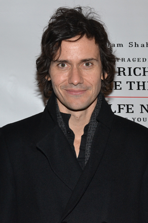 <p><em>Romeo and Juliet</em> star Christian Camargo is part of the cheering section for his father-in-law, Mark Rylance.</p><br />(© David Gordon)