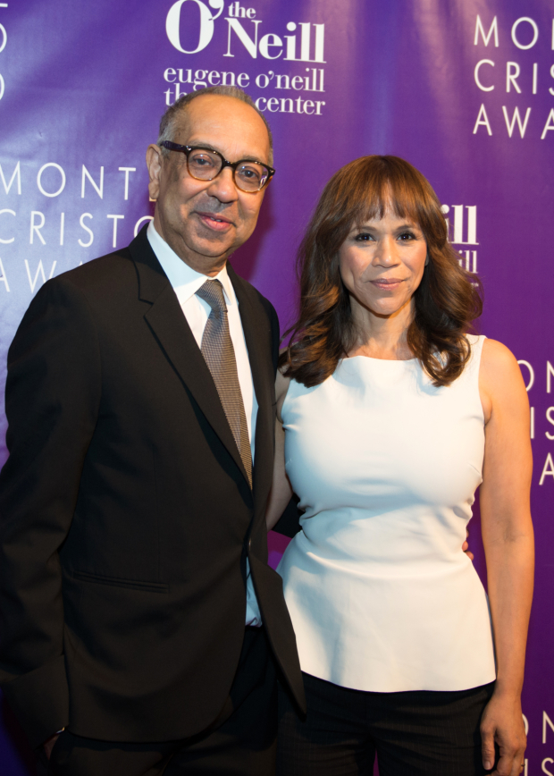 <p>Rosie Perez helps honor her pal George C. Wolfe at the Eugene O&#39&#x3B;Neill Theater Center gala.</p><br />(© Allison Stock)