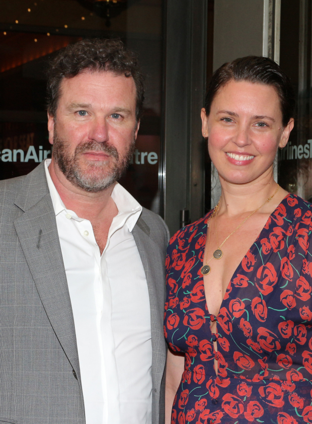 <p>Roundabout vet Douglas Hodge takes in the show with his wife, Amanda.</p><br />(© David Gordon)