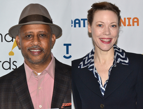 <p>Ruben Santiago-Hudson, Outstanding Solo Performance nominee for <em>August Wilson&#39&#x3B;s How I Learned What I Learned</em>, and Veanne Cox, a special award winner for <em>The Old Friends</em> and <em>The Most Deserving</em>.</p><br />(© David Gordon)