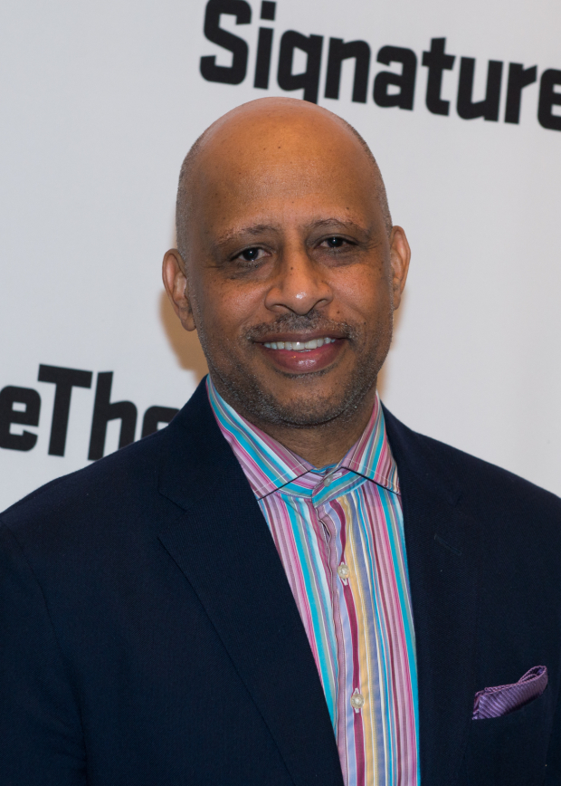<p>Ruben Santiago-Hudson stopped by to celebrate.</p><br />(© Allison Stock)