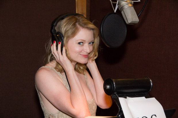 <p>Ruby Lewis gets ready to lay down a track for the <em>Paramour</em> cast recording.</p><br />(© Seth Walters)