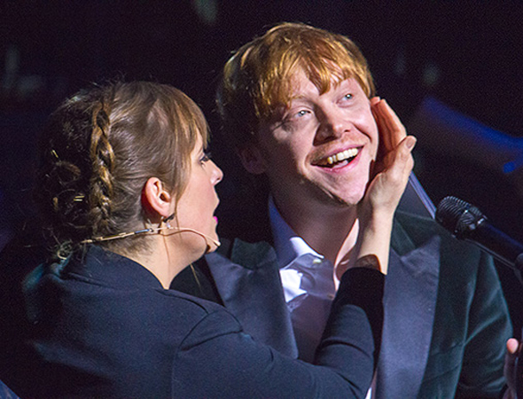 <p>Rupert Grint, winner of London Newcomer of the Year, takes the stage during the evening&#39&#x3B;s gala concert.</p><br />(© Peter Gibbons)