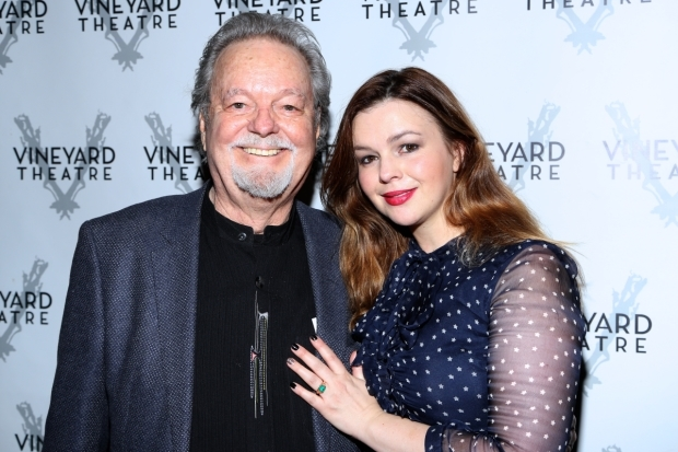 <p>Russ Tamblyn takes a photo with daughter, Amber.</p><br />(© Tricia Baron)