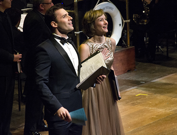<p>Ryan Silverman and Jill Paice make their maiden voyage in <em>Titanic</em> for this concert presentation.</p><br />(© David Gordon)