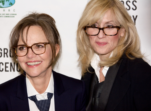 <p>Sally Field and Judith Light take a photo together.</p><br />(© Kristin Goehring)