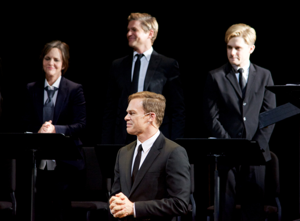 <p>Sally Field, David Burtka, Michael C. Hall, and Andy Mientus were all featured in the one-night-only reading of <em>Gross Indecency</em>.</p><br />(© Kristin Goehring)