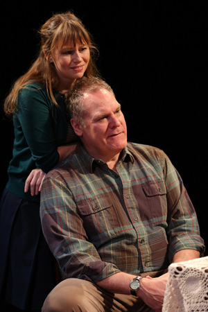 <p>Sally Murphy shares the stage with Jay O. Sanders.</p><br />(© Joan Marcus)