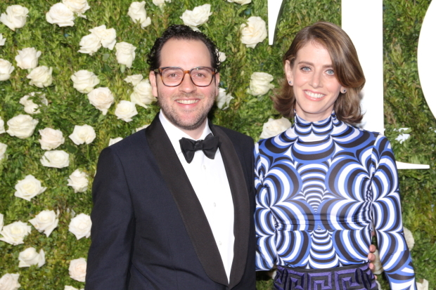 <p>Sam Gold, nominee for <em>A Doll&#39&#x3B;s House, Part 2</em>, with his wife, Amy Herzog.</p><br />(© David Gordon)