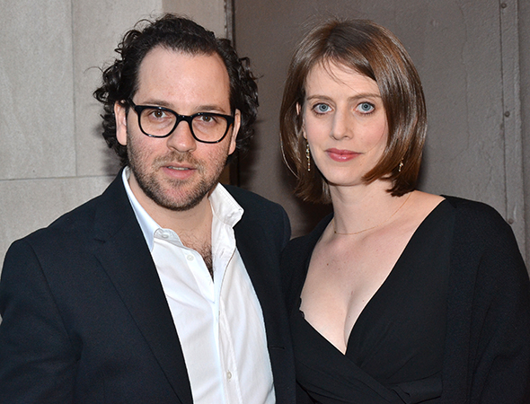 <p>Sam Gold, seen here with is wife, playwright Amy Herzog, is the director of <em>The Realistic Joneses</em>.</p><br />(© David Gordon)