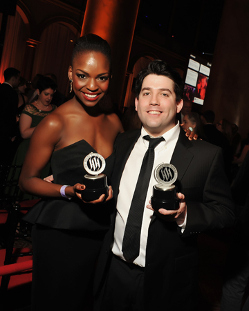 <p>Samantha Marie Ware and Christopher John O&#39&#x3B;Neill received awards for their roles in <em>The Book of Mormon</em> at the Kennedy Center.</p><br />(© Shannon Finney)