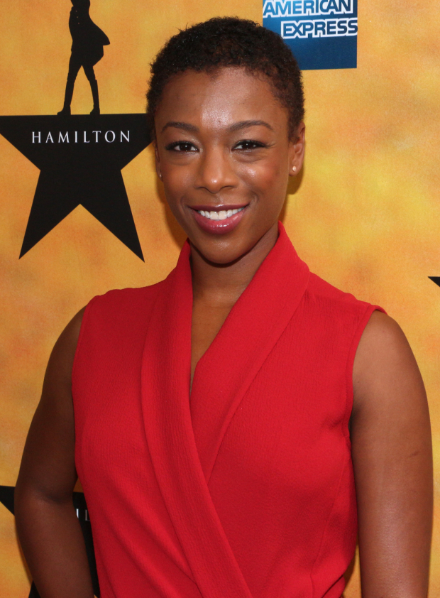 <p>Samira Wiley is also part of the <em>Orange Is the New Black</em> contingent on hand to welcome <em>Hamilton</em> to Broadway.</p><br />(© David Gordon)