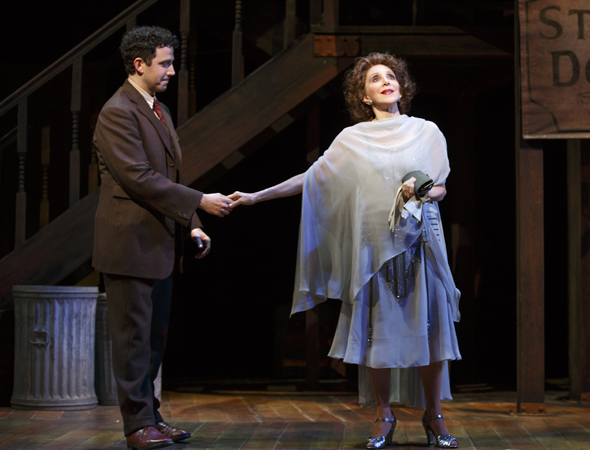 <p>Santino Fontana (Moss Hart) shares a scene with Andrea Martin, who also plays Beatrice Kaufman.</p><br />(© Joan Marcus)