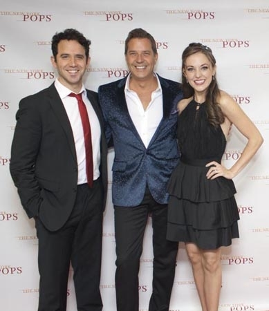 <p>Santino Fontana, Steven Reineke, and Laura Osnes.</p><br />(© Kevin B. Winebold)