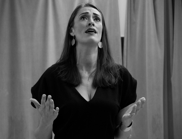 <p>Sara Gettelfinger plays Trude and Laverne.</p><br />(© David Gordon)