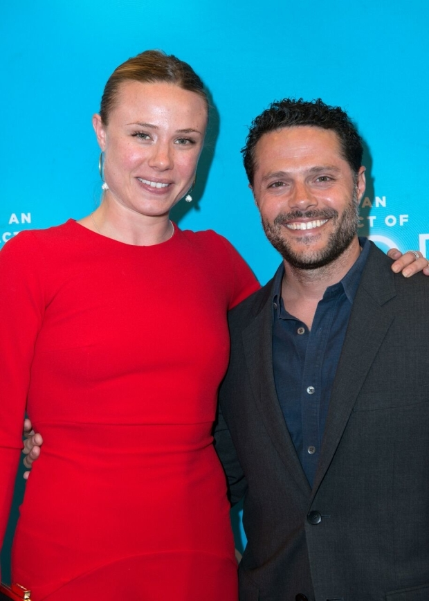 <p>Sara Mearns and Joshua Bergasse spend a night at the theater.</p><br />(© Allison Stock)