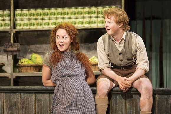 <p>Sarah Greene and Conor MacNeill play brother and sister Helen and Bartley McCormick in <em>The Cripple of Inishmaan</em>.</p><br />(© Johan Persson)