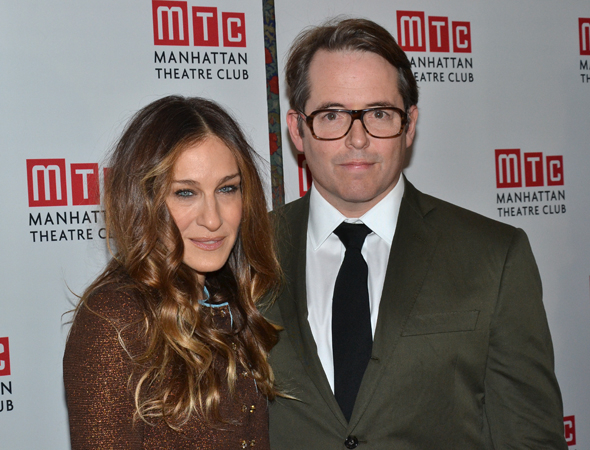 <p>Sarah Jessica Parker shares her opening night with her husband, actor Matthew Broderick.</p><br />(© David Gordon)