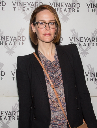 <p>Sarah Paulson is looking fabulous on her way into the Vineyard Theatre.</p><br />(© Seth Walters)