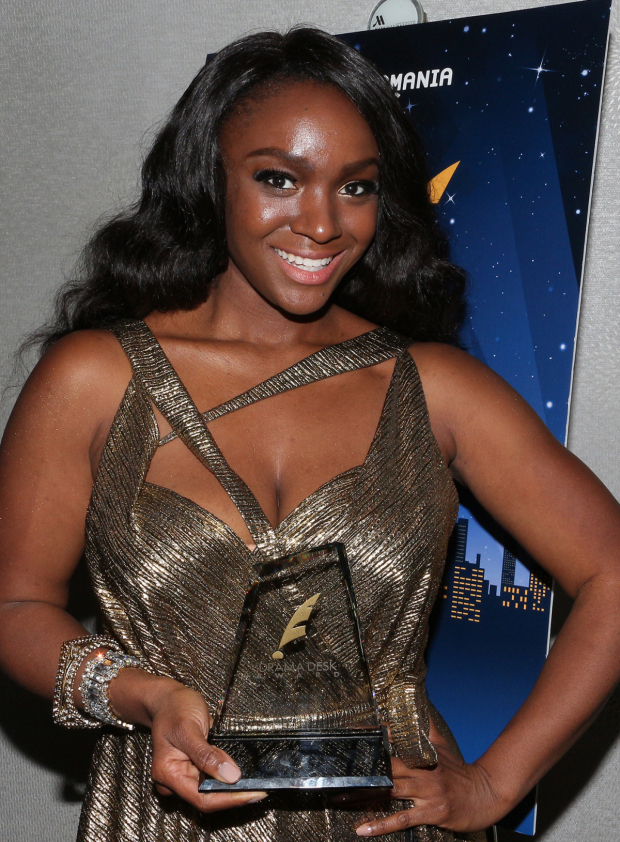 <p>Saycon Sengbloh, Outstanding Featured Actress in a Play winner, <em>Eclipsed</em>.</p><br />(© David Gordon)