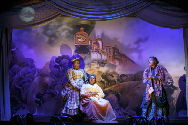 <p>Scenic design for <em>Bella: An American Tall Tale</em> is by Clint Ramos.</p><br />(© Joan Marcus)