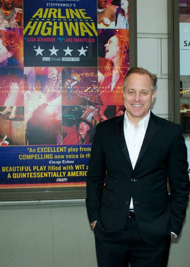 <p>Scenic designer Scott Pask is proud to celebrate his fourth opening night of the 2014-15 Broadway season.</p><br />(© Kristin Goehring)