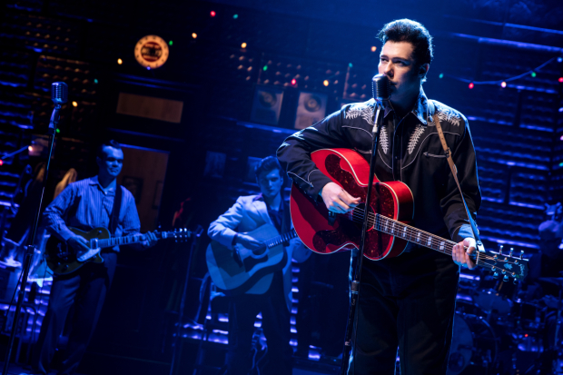 <p>Scott Moreau stars as Johnny Cash.</p><br />(© Matthew Murphy)