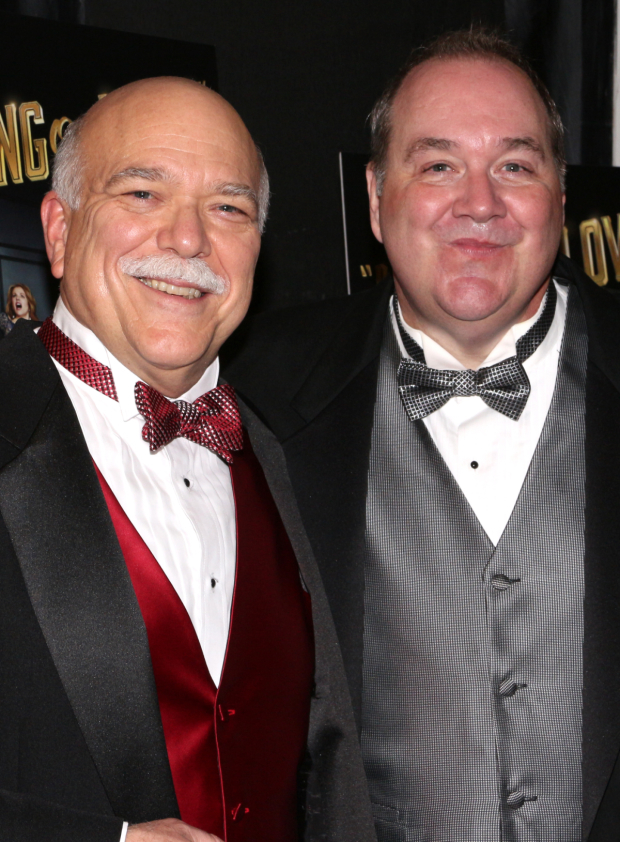 <p>Scott Robertson and Blake Hammond complete the cast of <em>Living on Love</em> as opera-singing butlers Eric and Bruce.</p><br />(© David Gordon)