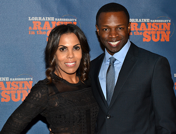 <p>Sean Patrick Thomas, joined here by his wife, Aonika Laurent, appears as Joseph Asagai.</p><br />(© David Gordon)
