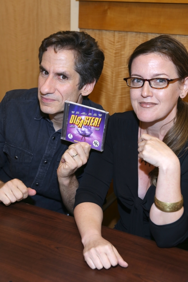 <p>Seth Rudetsky and Jennifer Simard show off their favorite new CD.</p><br />(© Tricia Baron)