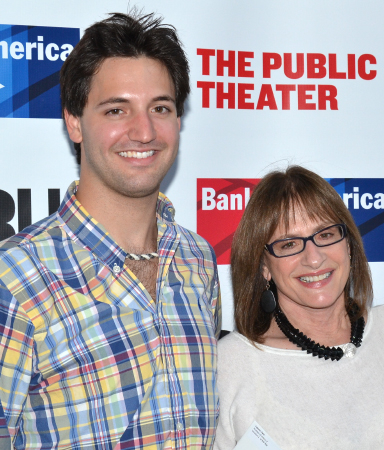 <p>Shakespeare in the Park is the ideal mother-son date for Patti LuPone and Joshua Johnston.</p><br />(© David Gordon)