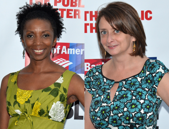 <p>Sharon Washington and Rachel Dratch show off their summery attire.</p><br />(© David Gordon)