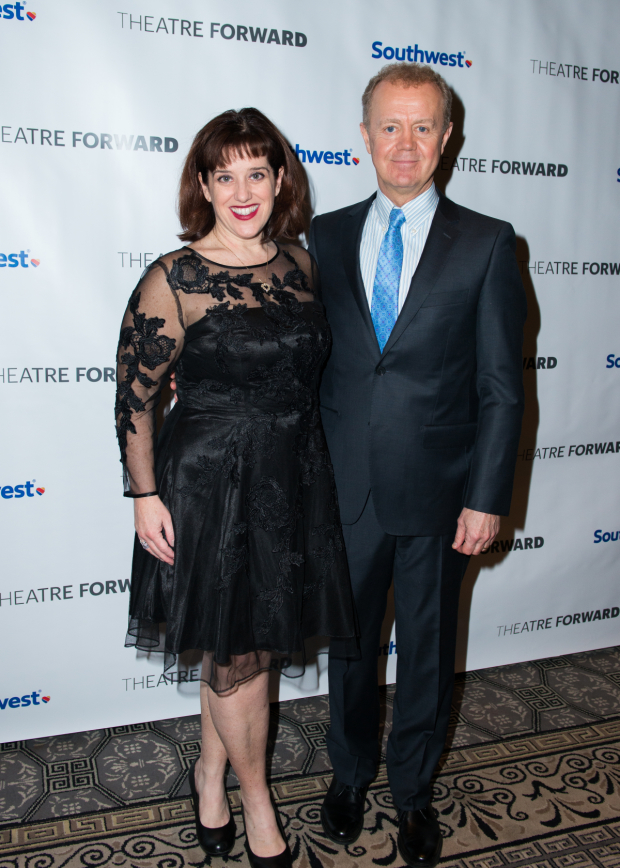 <p>Sharon Wheatley and Lee MacDougal performed a number from their current show, <em>Come From Away</em>.</p><br />(© Allison Stock)
