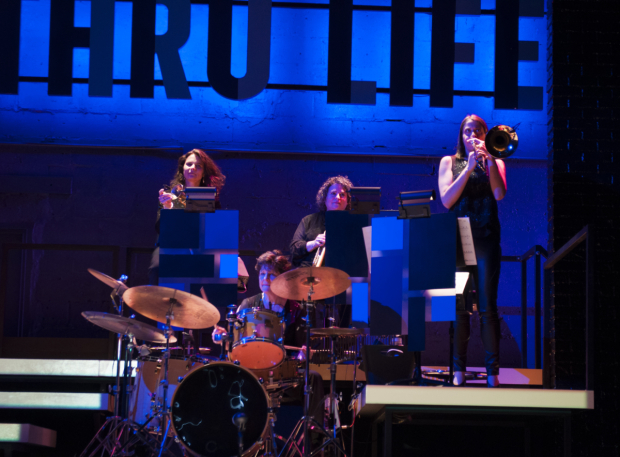 <p>Sherrie Maricle (on drums) and The Diva Jazz Orchestra bring down the house.</p><br />(© Allison Stock)