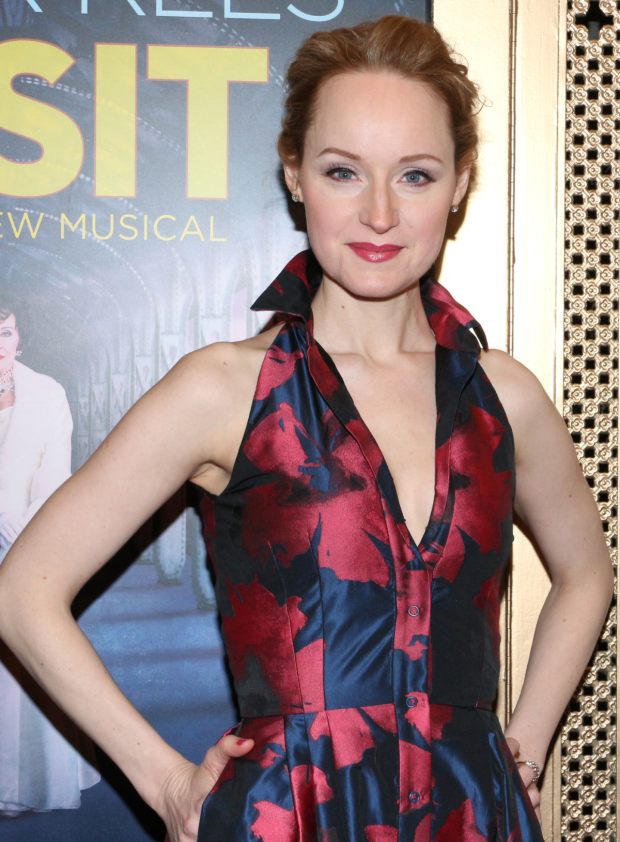 <p><em>Side Show</em> Drama Desk Award nominee Erin Davie shows off her lovely opening-night fashion.</p><br />(© David Gordon)