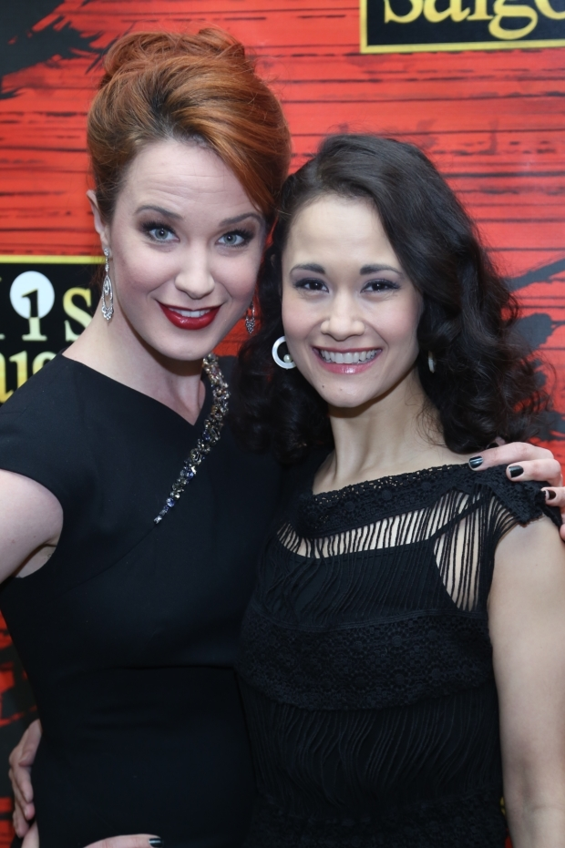 <p>Sierra Boggess and Ali Ewoldt were all smiles.</p><br />(© Tricia Baron)