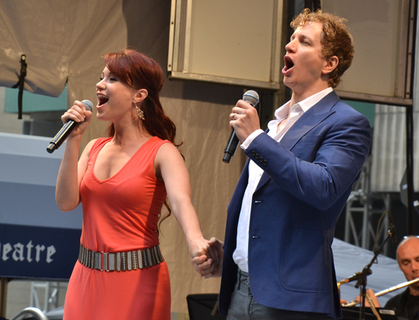 <p>Sierra Boggess and Jeremy Hays serenade the audience with &quot&#x3B;All I Ask of You&quot&#x3B; from <em>The Phantom of the Opera</em>.</p><br />(© David Gordon)