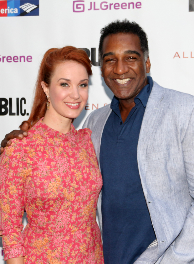 <p>Sierra Boggess and Norm Lewis took in the show.</p><br />(© David Gordon)