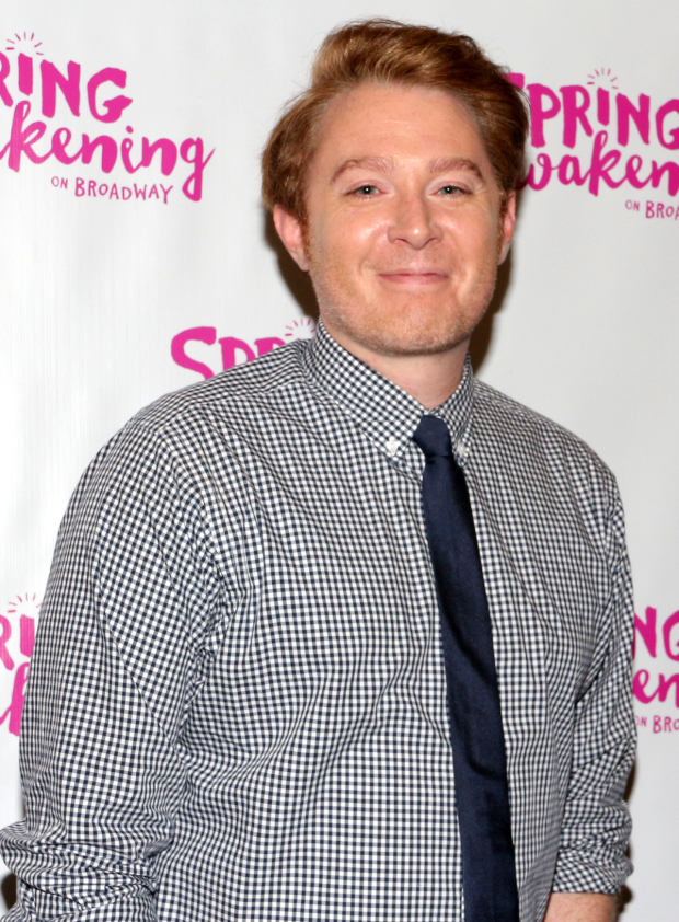 <p>Singer and activist Clay Aiken smiles for the cameras before the show.</p><br />(© David Gordon)