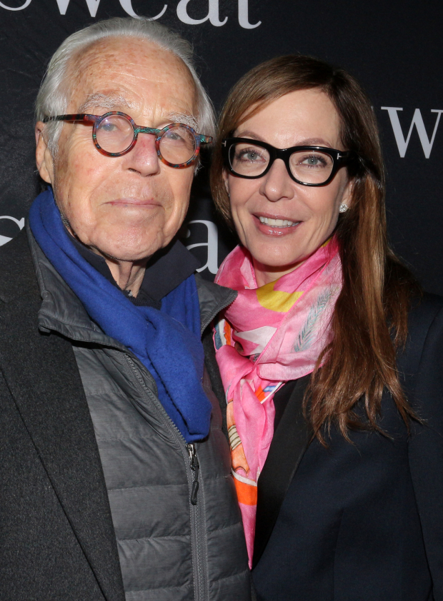 <p><em>Six Degrees of Separation</em> collaborators John Guare and Allison Janney are on hand to see <em>Sweat</em>.</p><br />(© David Gordon)