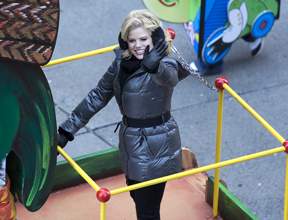 <p><em>Smash</em> star Megan Hilty has an infectious smile.</p><br />(© David Gordon)