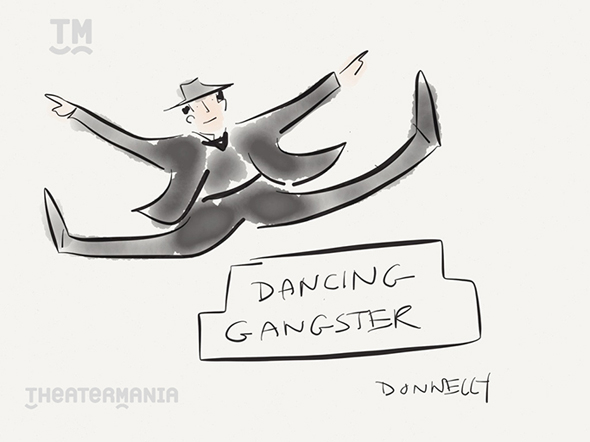 <p>Some gangster action from the <em>Bullets Over Broadway</em> ensemble. </p><br />(© Liza Donnelly)