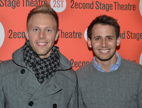 <p>Songwriters Justin Paul and Benj Pasek are gearing up for the New York City return of their Tony-nominated musical <em>A Christmas Story</em>.</p><br />(© David Gordon)