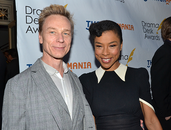 <p>Sophie Okonedo, a nominee for <em>A Raisin in the Sun</em>, with her pal, actor Ben Daniels.</p><br />(© David Gordon)