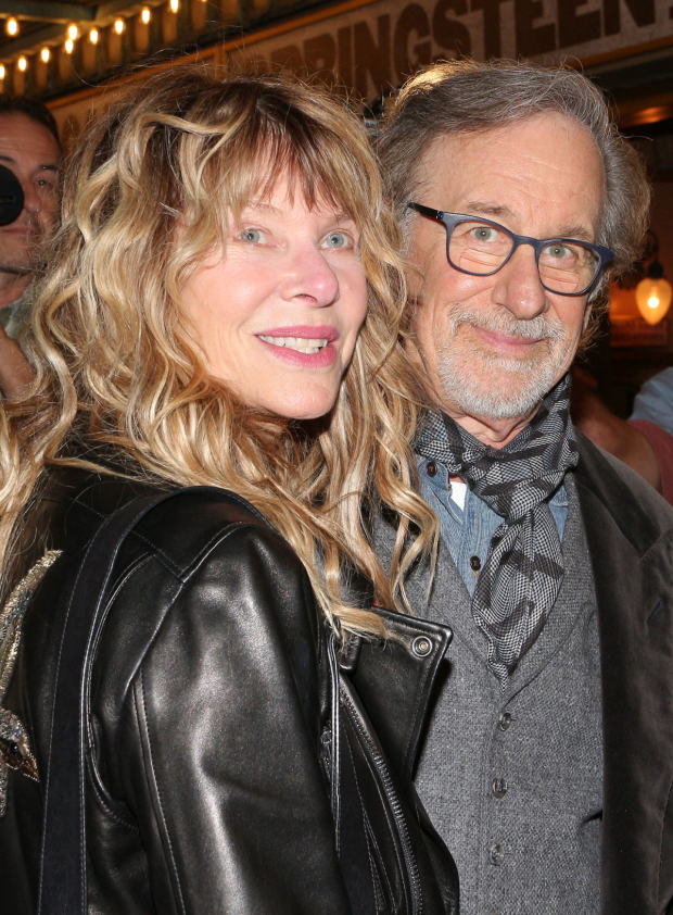 <p>Spielberg is joined for a photo by his wife, Kate Capshaw.</p><br />(© David Gordon)