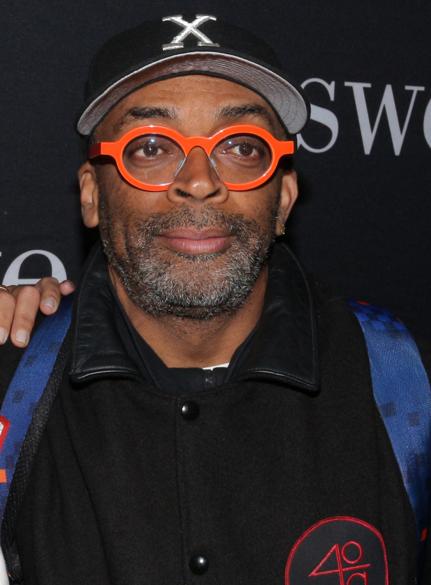 <p>Spike Lee arrives for the opening-night performance of <em>Sweat</em>.</p><br />(© David Gordon)