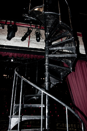 <p>Spiral staircases on the stage were put in specifically for this production, and they rise to about 36 feet. &quot&#x3B;Alan Cumming probably goes up to about 18 feet on the stage-left spiral,&quot&#x3B; Brill notes. &quot&#x3B;When we did this in 1998, most of the other performers didn&#39&#x3B;t use them, but now we try to embrace it more.&quot&#x3B;</p><br />(© David Gordon)
