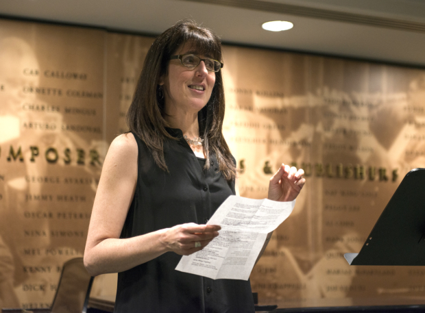 <p>Stacey Luftig presents an excerpt from her musical <em>My Heart Is the Drum</em>.</p><br />(© Allison Stock)