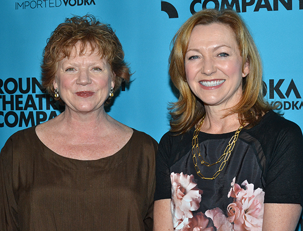 <p>Stage and screen favorites Becky Ann Baker and Julie White pose for a photo together.</p><br />(© David Gordon)